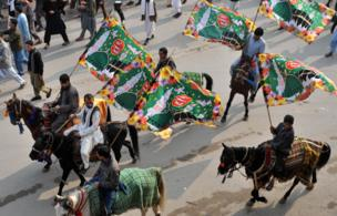 جشن میلاد پیامبر اسلام در پیشاور پاکستان