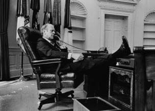Başkan Gerald R Ford'un Oval Ofis fotoğrafı