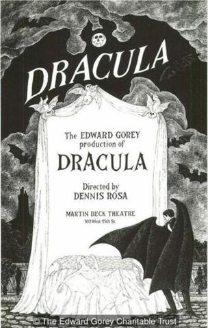 1978年高栗为百老汇重新上演《德古拉》所绘的海报。