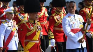 King Maha Vajiralongkorn during the procession