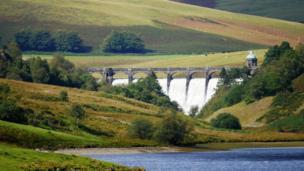 Craig Goch dam in the Elan Valley