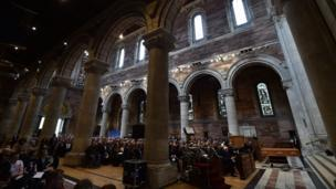 The funeral service of 29-year-old Lyra McKee in St. Anne's Cathedral