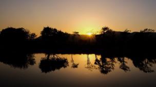 Sunset over Afon Glaslyn
