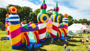 What is believed to be the world's biggest bouncy castle