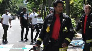 Les pompiers ont essayé d'éteindre le feu pendant deux jours.