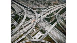 Автострада 2, Перекресток 105 & 110, Лос Анджелес, Калифорния, США, 2003
