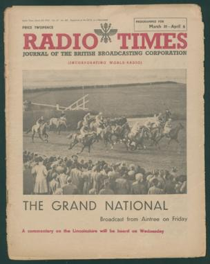 Front cover: 'The Grand National'