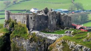 Carreg Cennen castle in Carmarthenshire.
