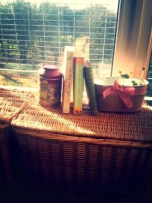 Books on a basket
