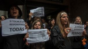 Protesta de Ni una menos en Buenos Aires