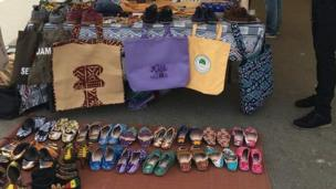 Des chaussures et des sacs made in Africa.