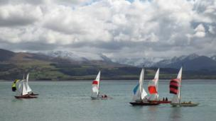 The first race of the season at the Royal Anglesey Yacht Club, taken by Ian Bradley from Beaumaris