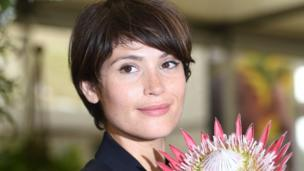 Actress Gemma Arterton visits the Burncoose Nurseries stand