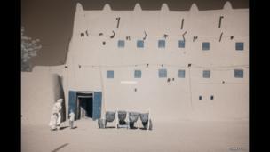 Mud-walled building in Agadez