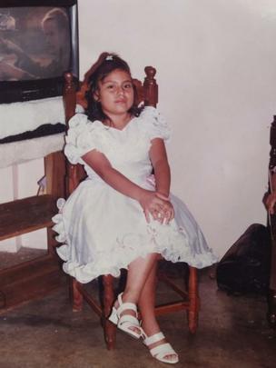 Paola Guzmán a los 11 años