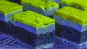 Glow-in-the-dark cakes