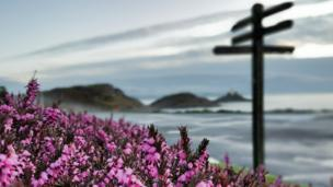 Calm before the storm: Ashley Williams' arty shot of Bracelet Bay, Swansea
