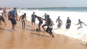 Beach football for Elegushi beach