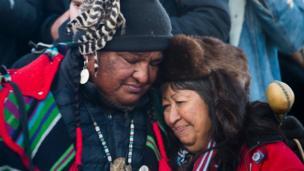 """Standing Rock kabilesi """"tarihi kararı"""" büyük memnuniyetle karşıladıklarını ve ABD Başkanı Barack Obama'ya sonsuza kadar minnettar kalacaklarını açıkladı"""