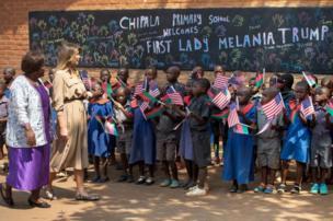 ميلانيا في مدرسة