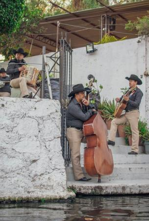 A Mariachi band in Xochimilco in Mexico City