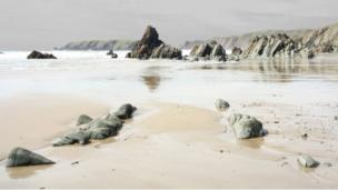 Marloes Sands beach at Pembrokeshire