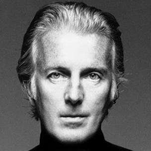 Handout photograph of Hubert de Givenchy in black and white shot