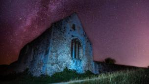 Countless stars shine on Godstow Abbey ruins, near Wolvercote.