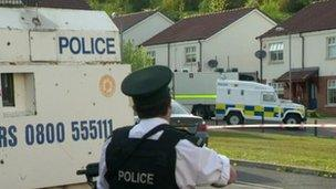 Police were fired on in the Foxes Glen area of west Belfast