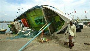 Aftermath of Tsunami
