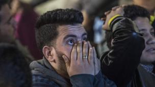 أحد المشجعين المصريين