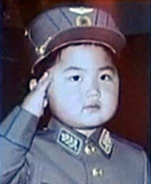 Kim Jong-un quando criança