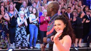 Claudia Fragapane and Melvin Odoom
