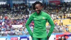 La sprinteuse ivoirienne Marie-Josée Ta Lou décroche la médaille d'Or sur 100m à Asaba (Nigeria) lors de la 21è Edition des Championnats d'Afrique d'Athlétisme.