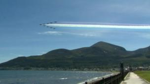 The Red Arrows head for home