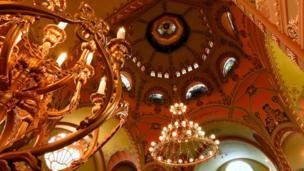 Svod sinagoge u Subotici, mart 2018.