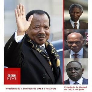 Paul Biya est arrivé au pouvoir trois ans après le départ de Senghor. Deux alternances se sont produites au Sénégal et trois présidents se sont succédés: Diouf, Wade et Macky Sall.