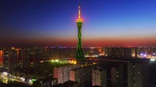 ZHONGYUAN TOWER, ZHENGZHOU, HENAN PROVINCE (CHINA) JOINS TOURISM IRELAND'S GLOBAL GREENING.jpeg