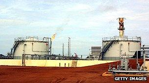 Oil facility at Kome, Chad