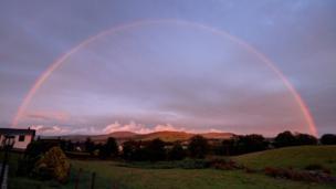 A rainbow over Gwynedd, near Trawsfynydd, taken by Keith O'Brien