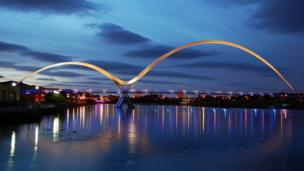 in_pictures Infinity Bridge, Stockton-on-Tees