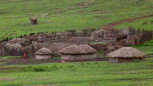 A Maasai village in rural northern Tanzania