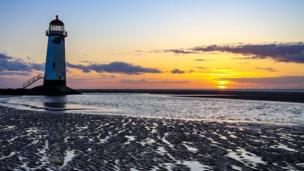 Point of Ayr lighthouse at Talacre, Flintshire, shot by Gareth Davies