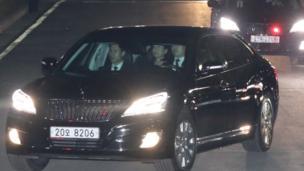 朴槿惠离开青瓦台