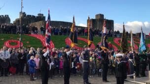 A service at Caerphilly Castle