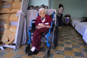 An elderly man in Guatemala