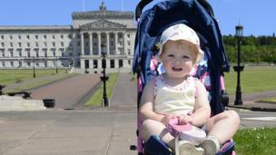 Anna Rainey pictured enjoying a beautiful sunny weekend in the grounds of Stormont in Belfast