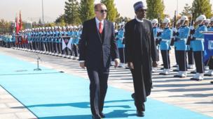 Hotunan ziyarar da Buhari yake a Turkiyya