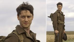 Film still of James McAvoy starring as Robbie Turner in Atonement, 2007