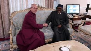 Shugaba Buhari da wasu da Shugaban Cocin Ingila, Archbishop na Canterbury, Justin Welby